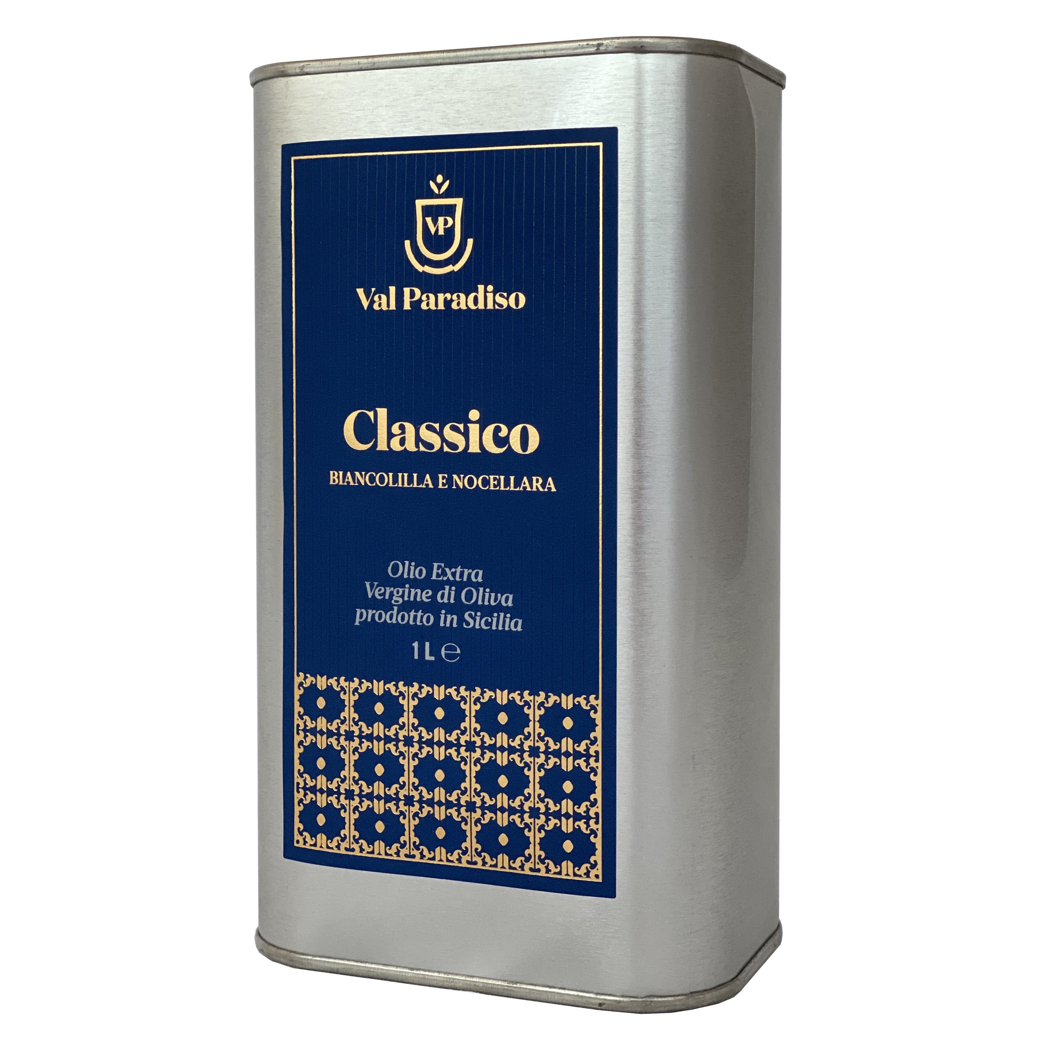 olio classico extravergine siciliano valparadiso latta 1 litro