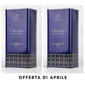 Olio Classico Val Paradiso – 10 litri (2 lattine da 5 litri)