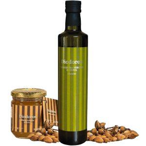 Selezione Diodoros: Olio EVO + miele + mandorle