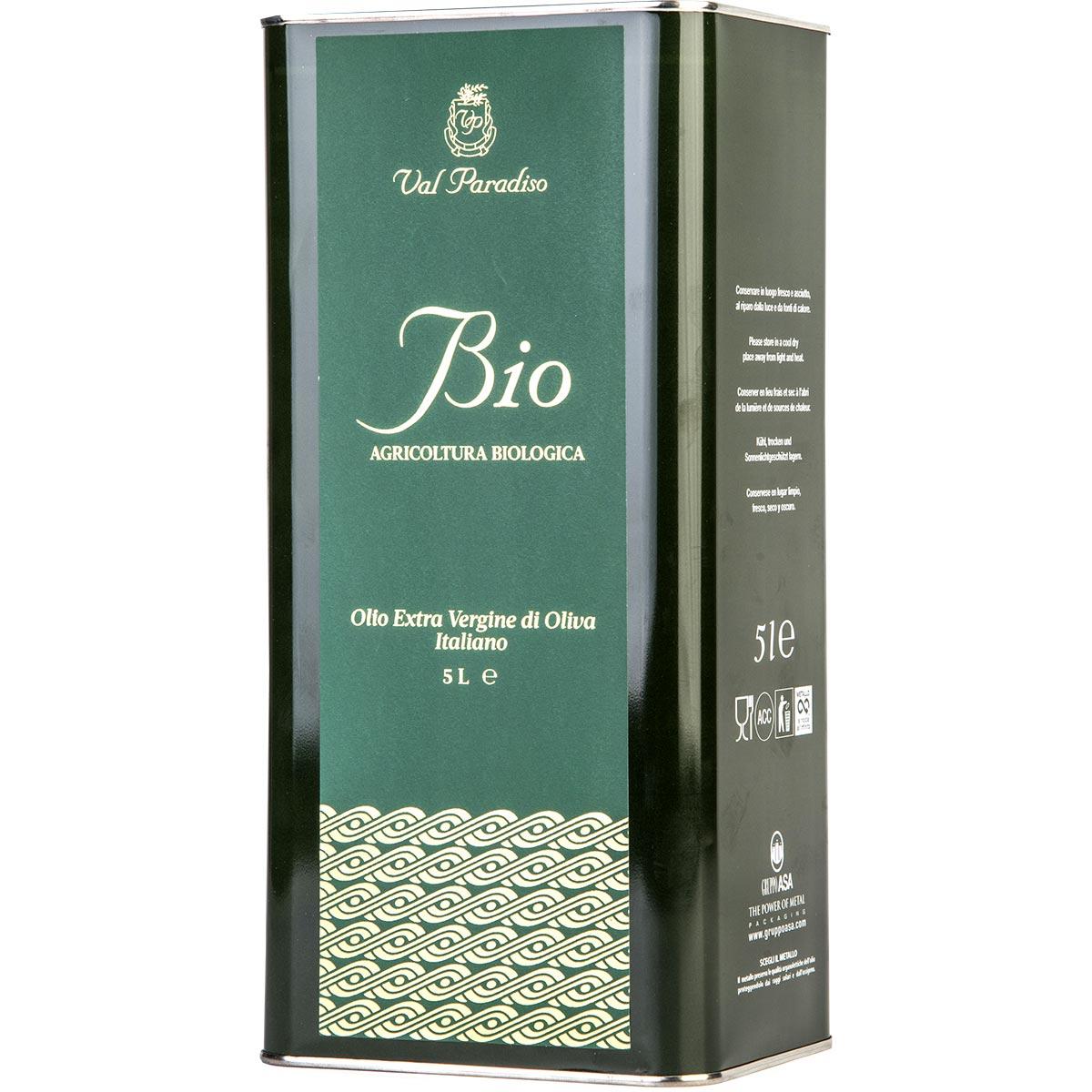 Olio biologico Val Paradiso - Latta da 5 litri