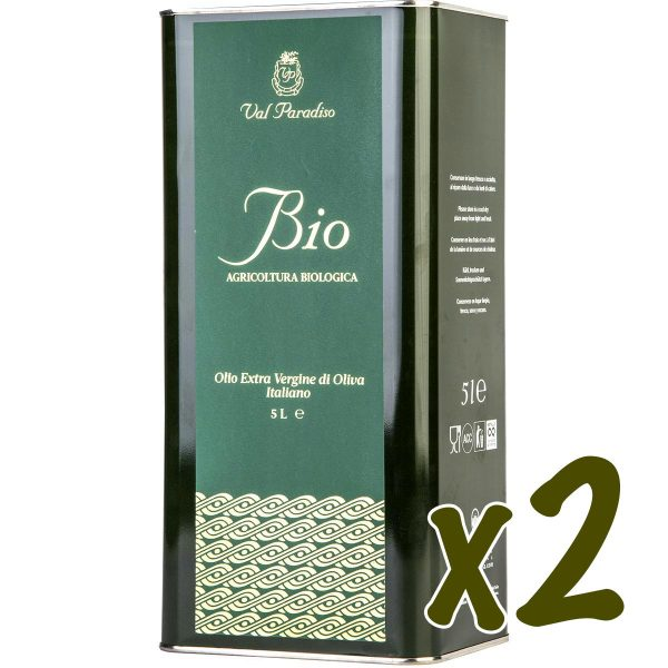 Olio biologico Val Paradiso - 2 x Latta da 5 litro